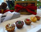 Try our Assorted Gourmet Fruitcake Bites Sampler Tin. Home-made goodness!