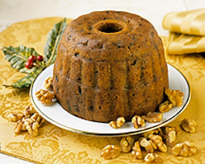 Try our Walnut Fall Harvest Plum Pudding (Cake)
