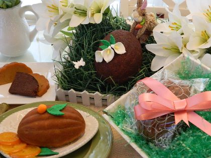 Try our Gourmet Easter Egg Cake Gift Basket