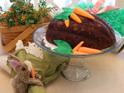 Our gift of the month is Gourmet Easter Egg Carrot Cake w/ Bacardi Rum. Try it today!