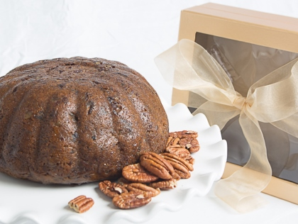 Try our Deluxe Pecan Fall Harvest Plum Pudding (Cake)