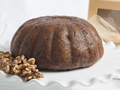 Our gift of the month is Deluxe Walnut Fall Harvest Plum Pudding (Cake). Try it today!